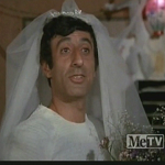 Klinger in a wedding dress
