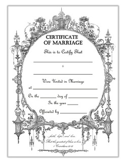 Keepsake Marriage Certificate free download
