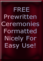 Free prewritten wedding ceremonies